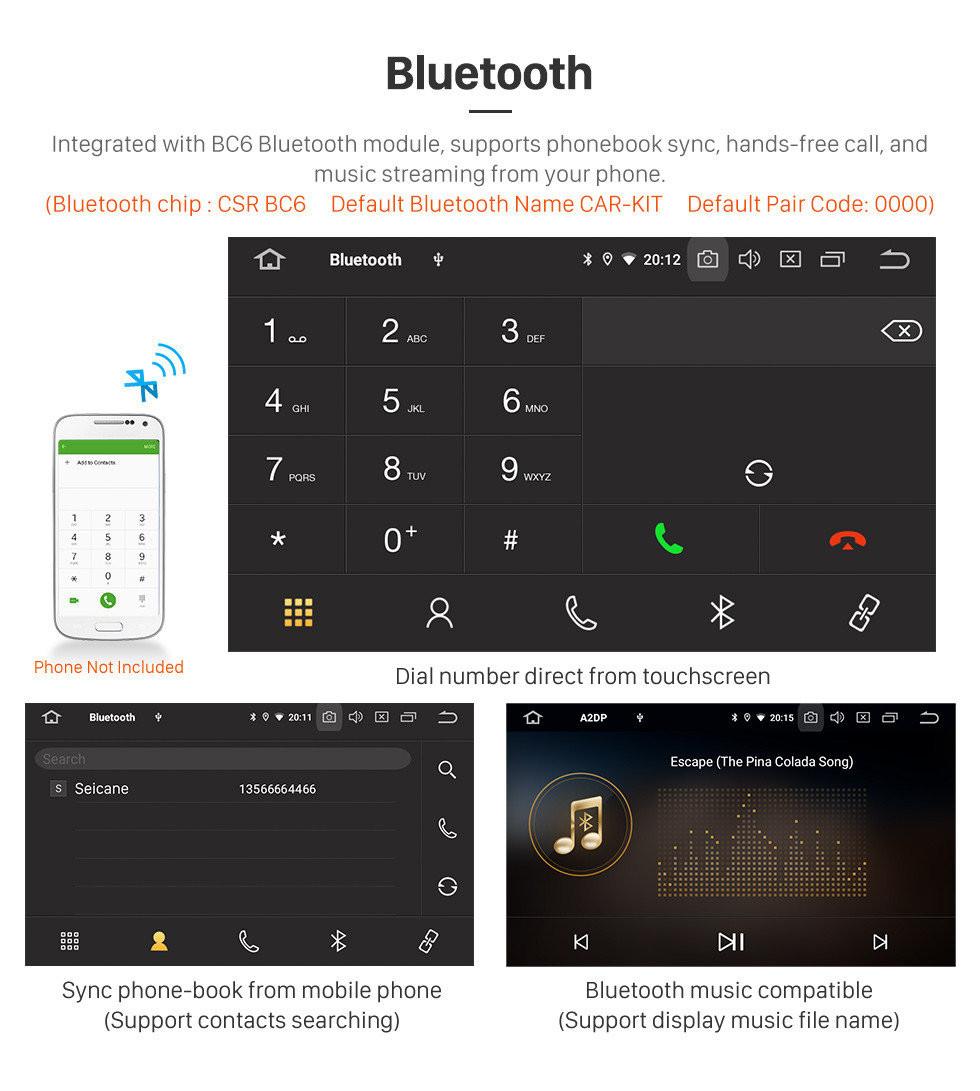 Seicane 2002-2009 Toyota Prado Cruiser Android 10.0 Autoradio DVD Sistema de Navegação com 3G WiFi Bluetooth LinkMirror OBD2 Retrovisor Câmera HD 1024 * 600 Multi-touch Screen
