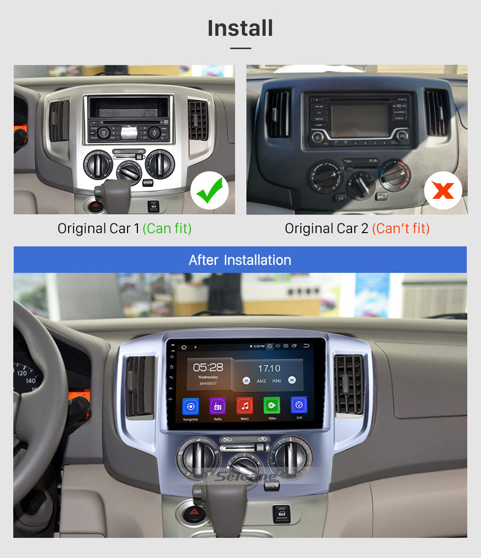Seicane 9 Inch 2009-2016 Nissan NV200 Android 10.0 HD Touchscreen GPS Navigation System Radio Support Bluetooth Music Steering Wheel Control 3G/4G WiFi USB OBD2 DVR
