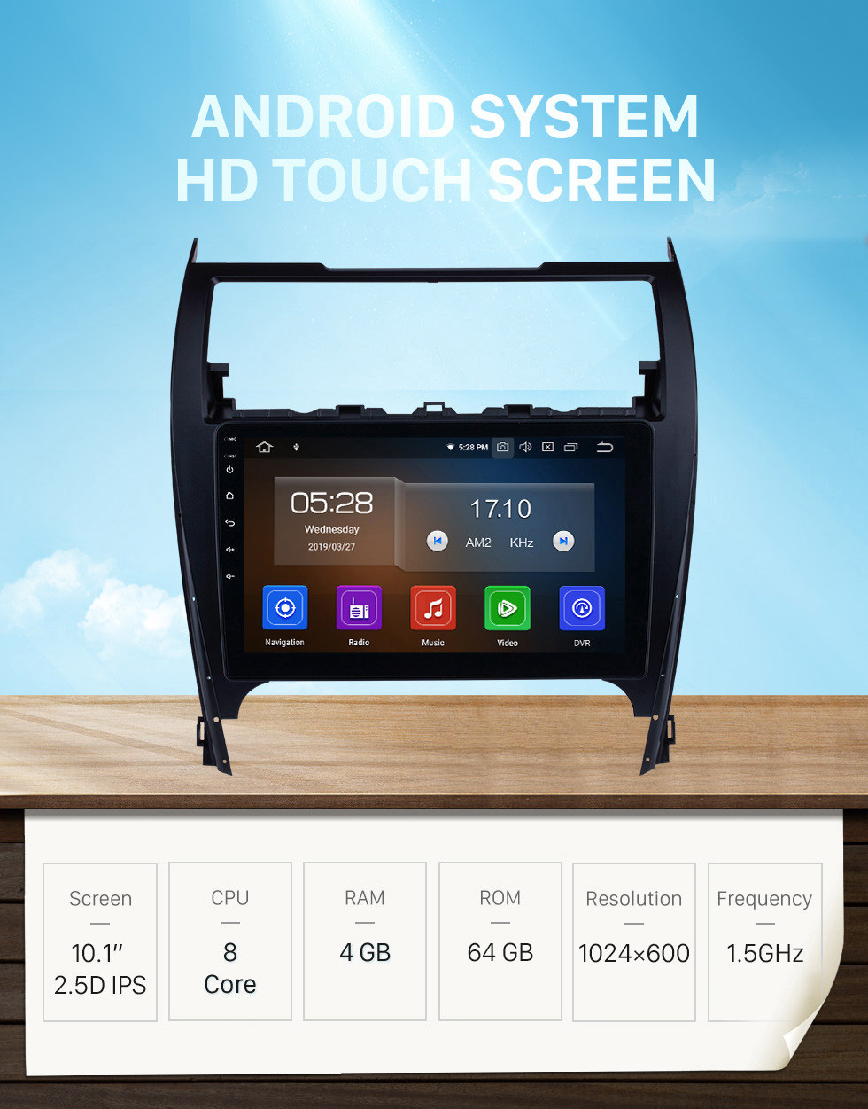 Seicane Android 11.0 2012-2017 Toyota Camry 10.1 Inch HD Touchscreen Car Stereo Radio Head Unit GPS Navigation Bluetooth WIFI Support Backup Camera Steering Wheel Control USB DVR
