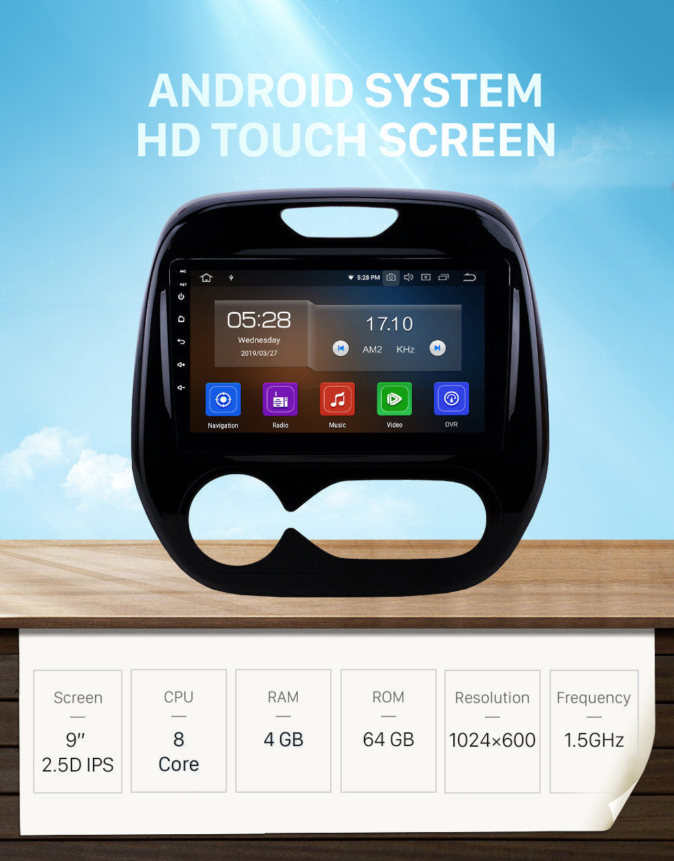 Seicane Android 11.0 9 inch 2011-2016 Renault Captur CLIO Samsung QM3 Auto A/C Radio GPS Navigation Bluetooth Stereo with Audio system 1080P Video USB WIFI Mirror Link Aux
