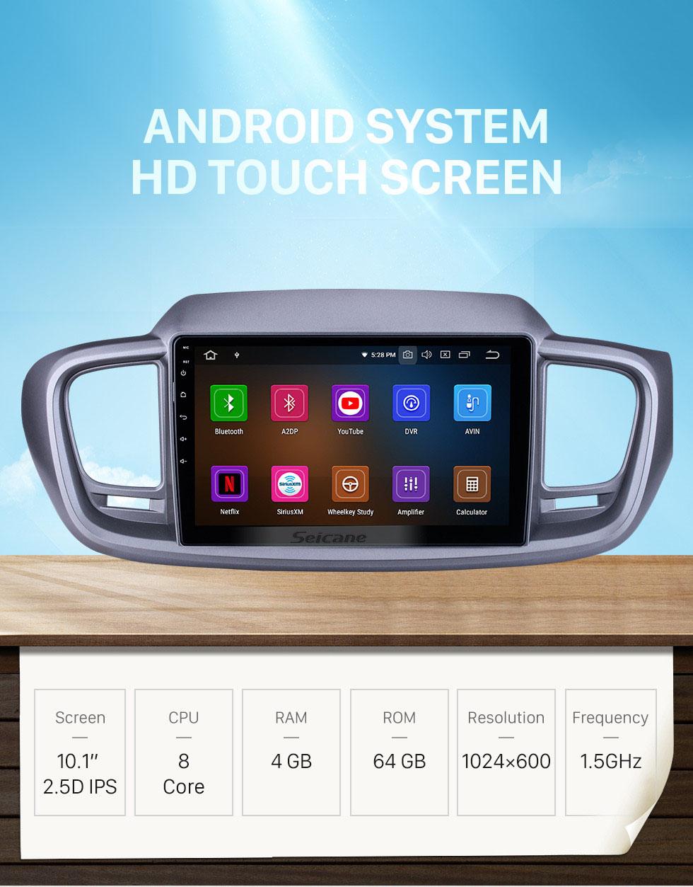 Seicane Android 10.0 For 2015 Kia Sorento RHD Radio 10.1 inch GPS Navigation System Bluetooth HD Touchscreen Carplay support SWC