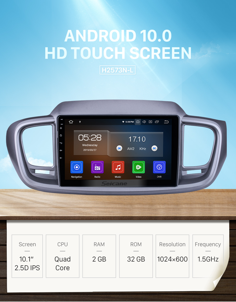 Seicane 10.1 inch For 2015 Kia Sorento RHD Radio Android 10.0 GPS Navigation System with HD Touchscreen Bluetooth Carplay support OBD2