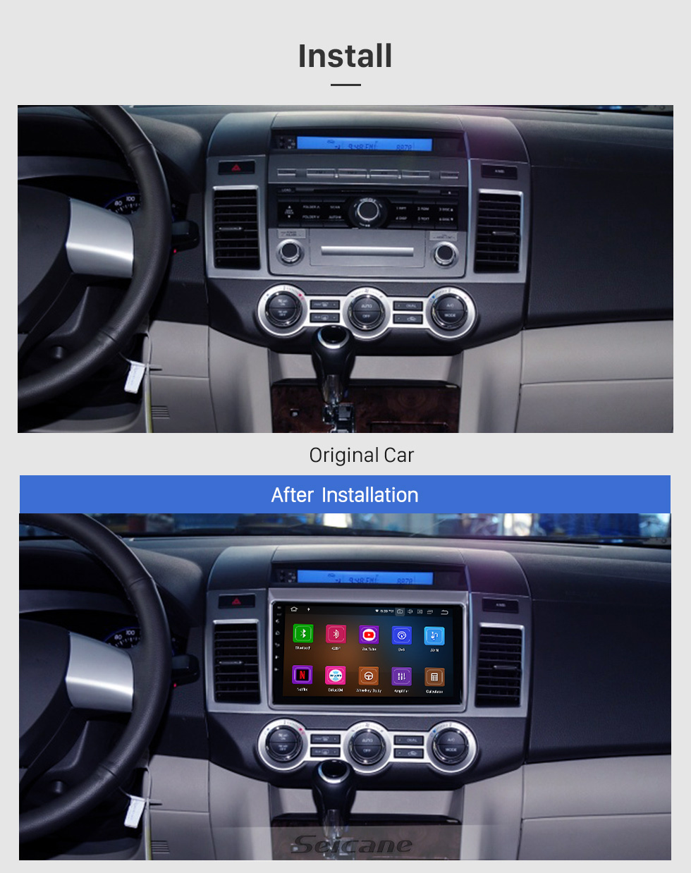Seicane 9 inch For 2011 Mazda 8 Radio Android 10.0 GPS Navigation System with USB HD Touchscreen Bluetooth Carplay support OBD2 DSP