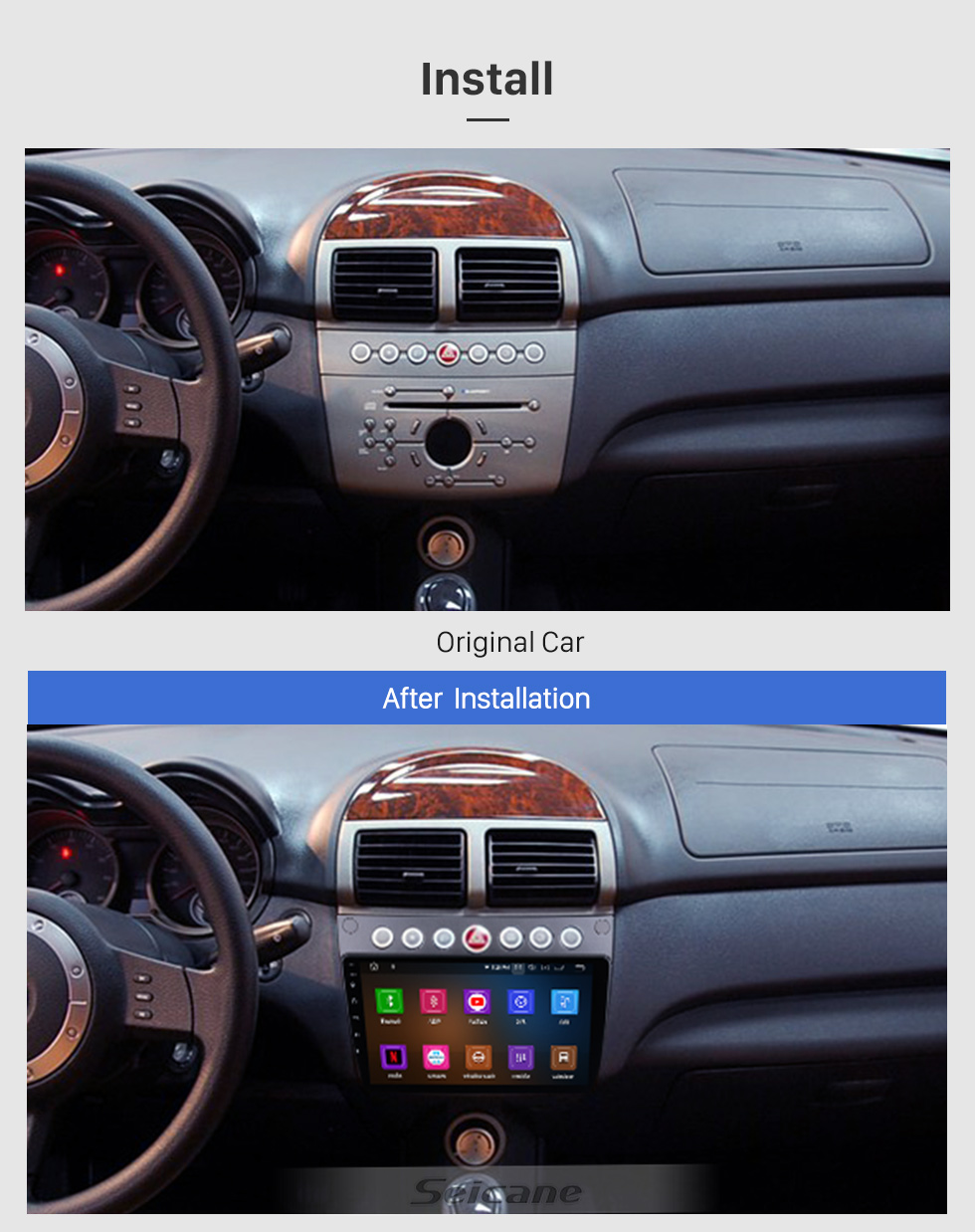 Seicane Android 10.0 For 2009 2010 2011-2015 Proton Lotus L3 Radio 9 inch GPS Navigation System with Bluetooth HD Touchscreen Carplay support SWC