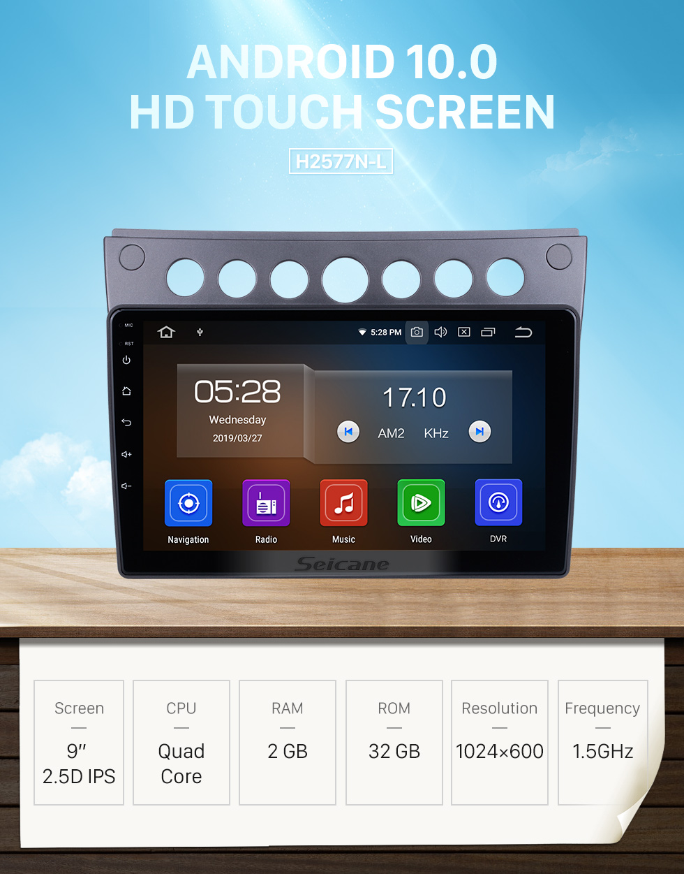 Seicane HD Touchscreen 9 inch Android 10.0 for 2009-2013 2014 2015 Proton Lotus L3 Radio GPS Navigation System Bluetooth Carplay support DSP TPMS