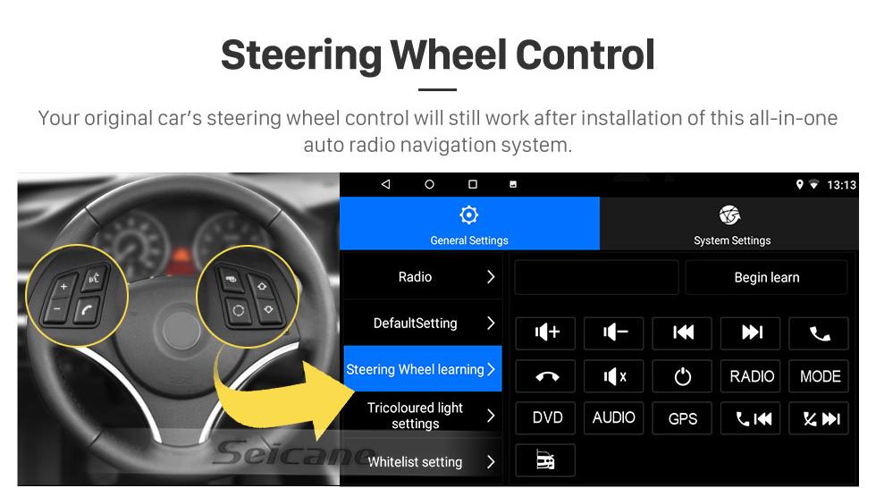 Seicane OEM 9 pouces Android 10.0 pour 2009 2010 2011-2015 Radio Proton Lotus L3 avec système de navigation GPS à écran tactile Bluetooth HD Support Carplay