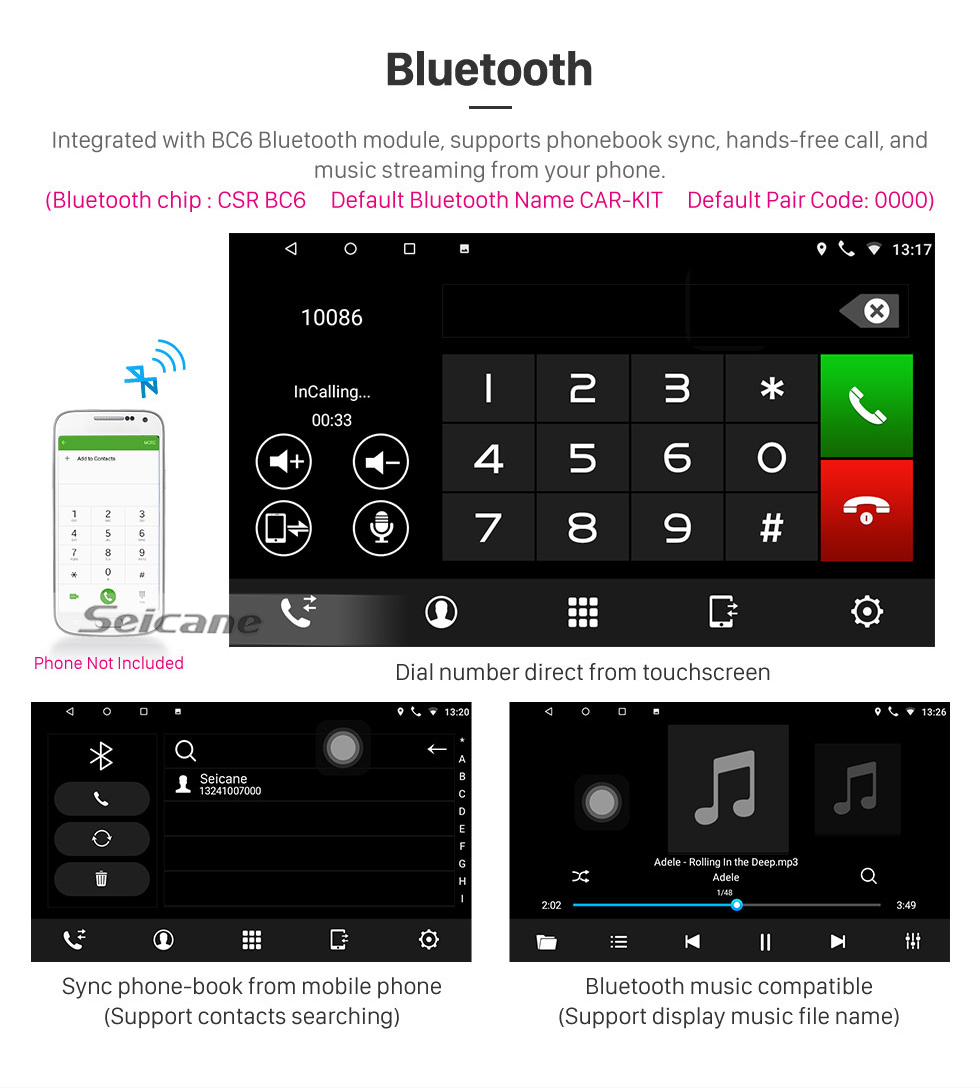 Seicane OEM 9 inch Android 10.0 for 2009 2010 2011-2015 Proton Lotus L3 Radio with Bluetooth HD Touchscreen GPS Navigation System support Carplay