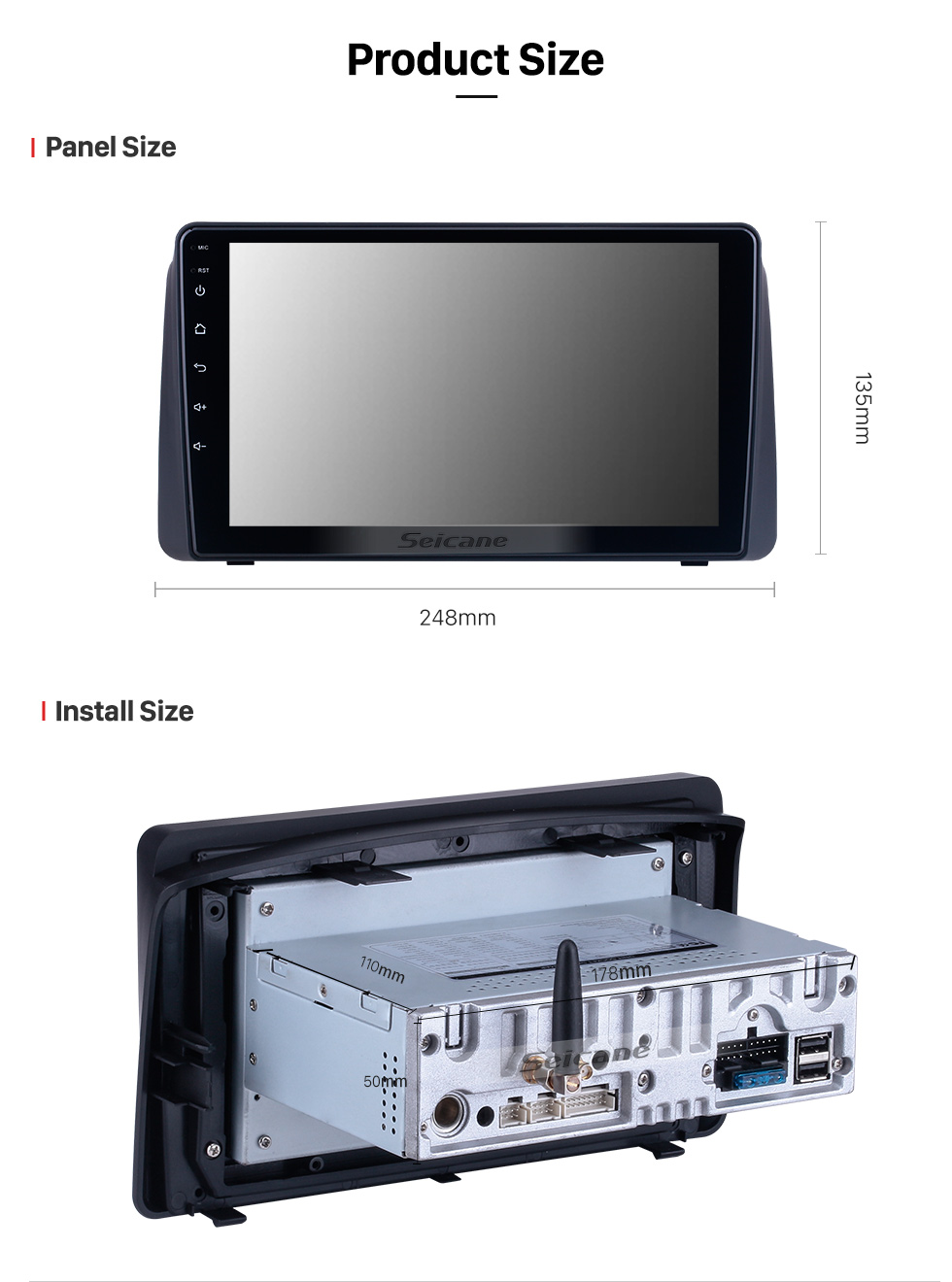Seicane OEM Android 10.0 For 2011 Chrysler Grand Voyager Radio with Bluetooth 9 inch HD Touchscreen GPS Navigation System Carplay support DSP