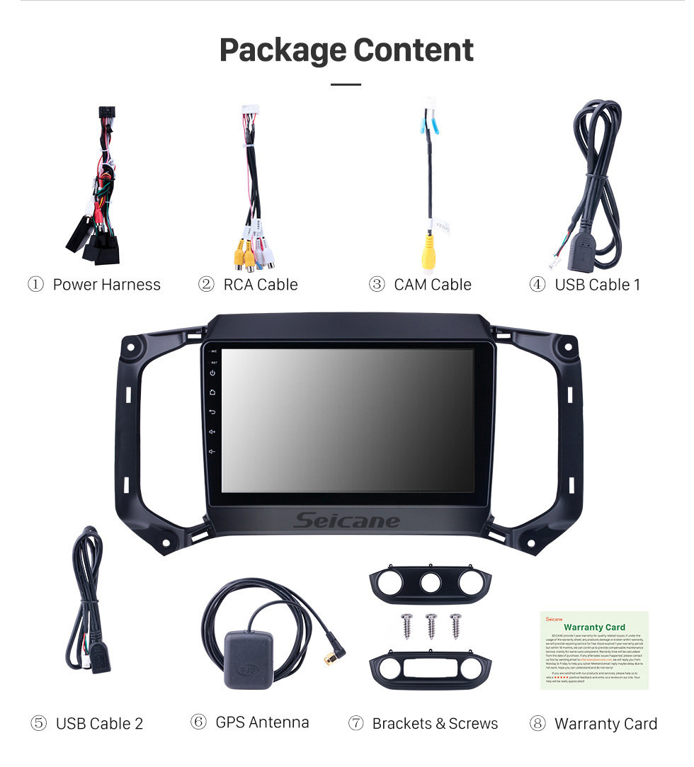 Seicane OEM 9 inch Android 10.0 for 2017 Chevy Chevrolet Colorado Radio with Bluetooth HD Touchscreen GPS Navigation System support Carplay DAB+