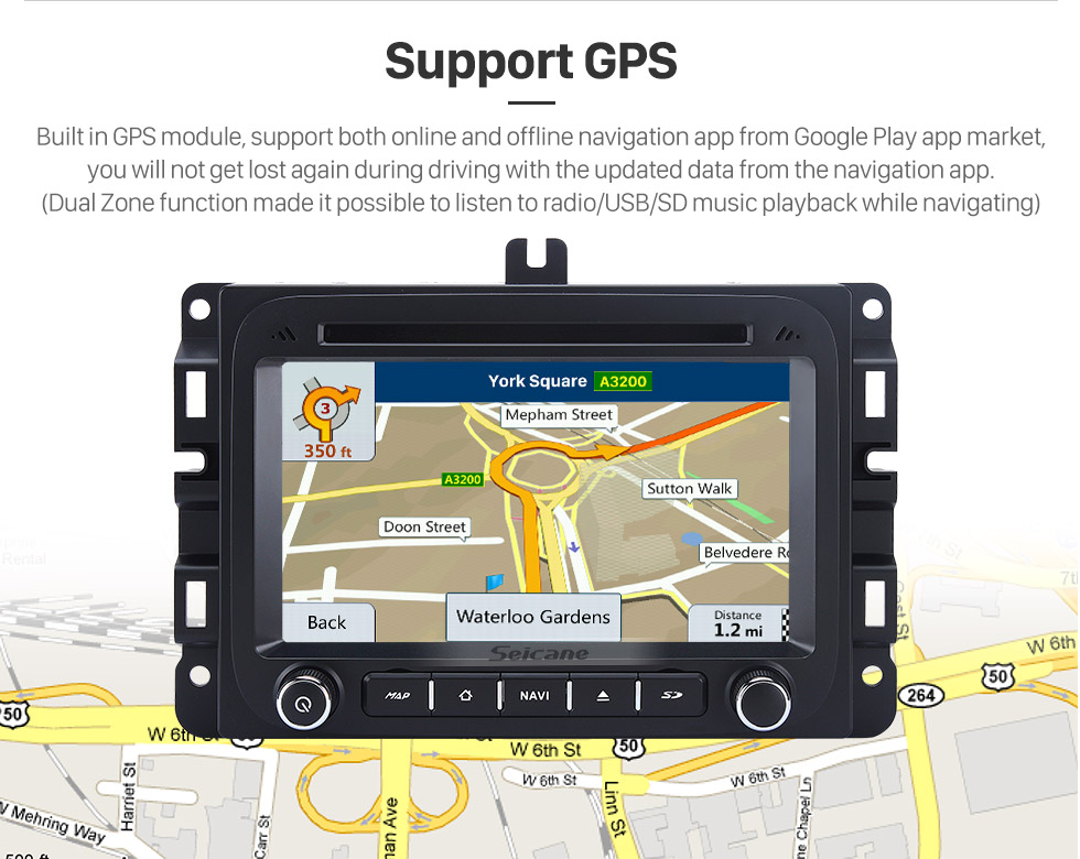 Seicane Android 8.0 2014 2015 2016 Jeep Renegade  Replacement Stereo System GPS Radio Navigation 3G WiFi DVD Bluetooth USB SD