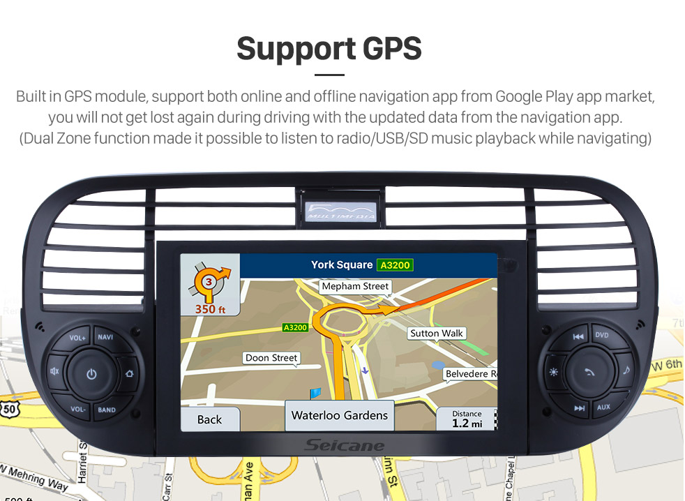 Android 8 0 GPS Radio DVD player Navigation System for 2007-2013