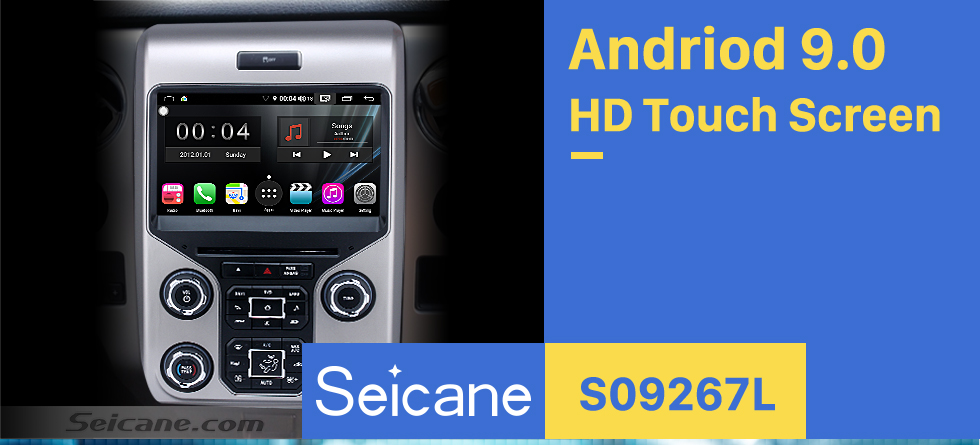 Seicane OEM Android 9.0 Radio GPS Navigation System for 2013 2014 2015 Ford F150 F250 F350 Expedition with OBD2 Bluetooth Mirror link DVD Player HD 1024*600 Touch Screen DVR TV Video WIFI USB SD Backup Camera