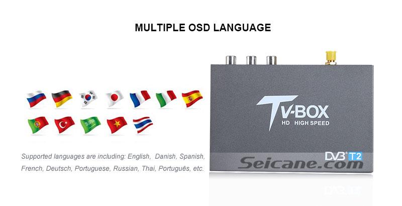 Seicane T337B H.264 (MPEG4) DVB-T2 TV RECEIVER OSD Language