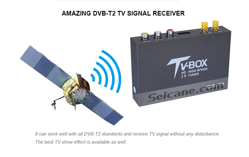 Seicane T338B H.264 (MPEG4) DVB-T2 TV RECEIVER Amazing DVB-T2 TV signal Receive