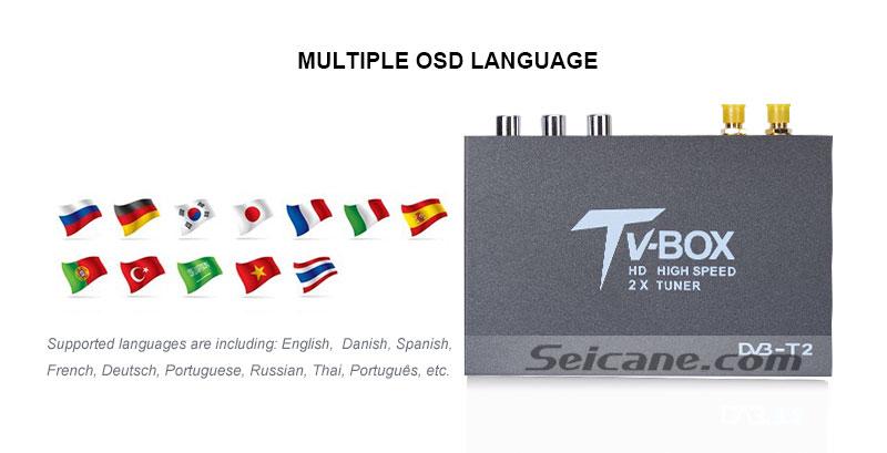 Seicane T338B H.264 (MPEG4) DVB-T2 TV RECEIVER OSD Language