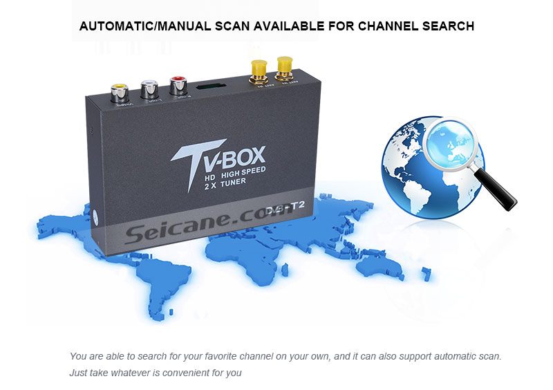 Seicane T338B H.264 (MPEG4) DVB-T2 TV RECEIVER Automatic/Manual scan available for channel search