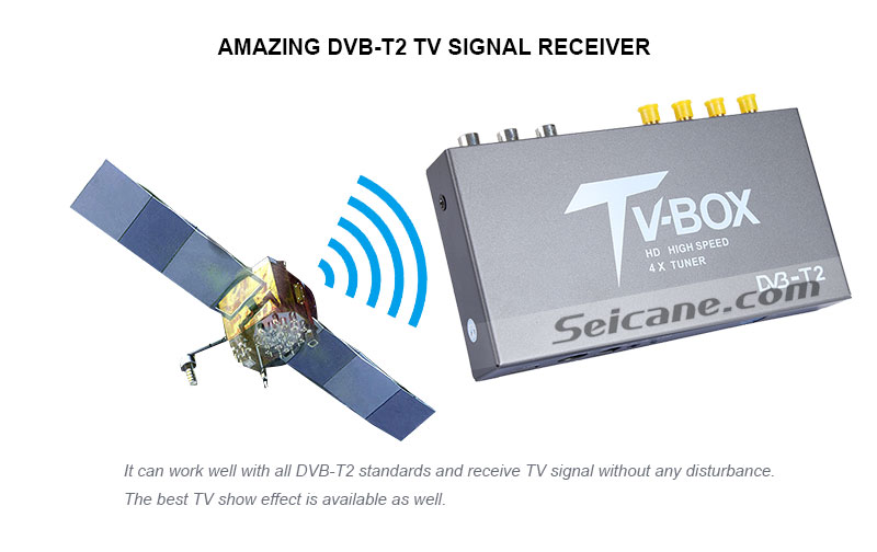 Seicane T339B H.264 (MPEG4) DVB-T2 TV RECEIVER Amazing DVB-T2 TV signal Receive