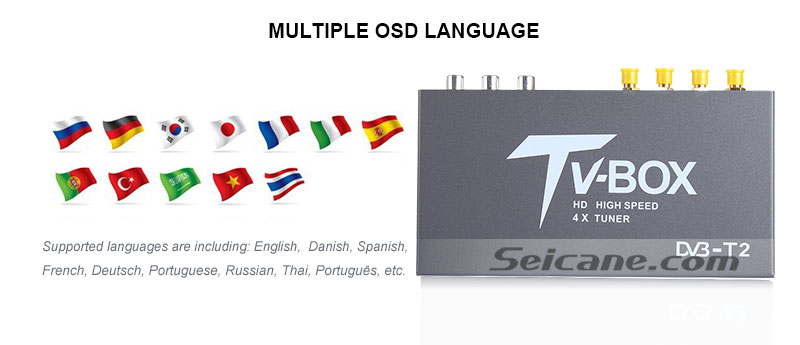 Seicane T339B H.264 (MPEG4) DVB-T2 TV RECEIVER OSD Language