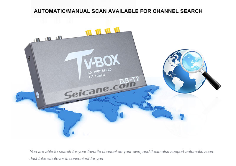 Seicane T339B H.264 (MPEG4) DVB-T2 TV RECEIVER Automatic/Manual scan available for channel search